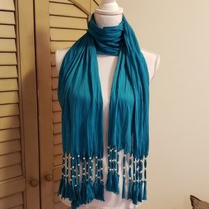 MINICCI TURQUOISE LONG SCARF